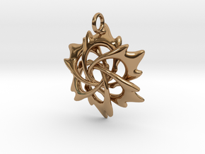 6 Flame Petals - 2.5cm - wLoopet in Polished Brass