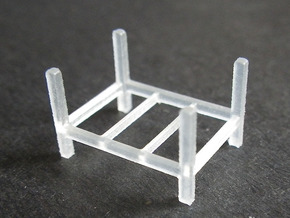 Steel Storage Rack 1-87 (HO Scale) in Frosted Ultra Detail