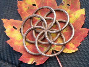 Seed of Life - 4.6cm in Polished Bronzed Silver Steel
