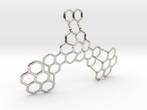 Hex Honeybird - 9cm in Platinum