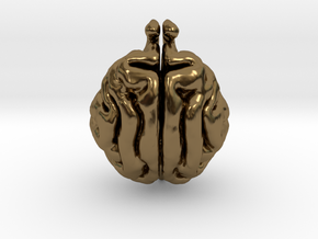 Cat Brain in Polished Bronze