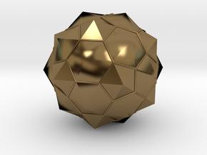 Truncated Icosahedron - aka Football in Polished Bronze