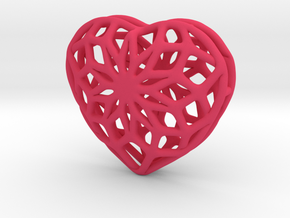 Valentine Heart - small in Pink Processed Versatile Plastic