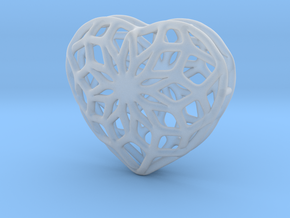 Valentine Heart - small in Smooth Fine Detail Plastic