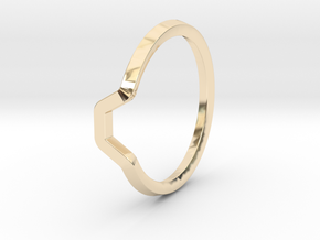 BETTER HALF Ring(HEXAGON), US size 3, d=14mm  in 14K Yellow Gold: 3 / 44