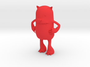 HBB Derp Badger Mascot in Red Strong & Flexible Polished