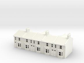HVT-1 N Scale Honiton Victoria Terrace 1:148 in White Processed Versatile Plastic