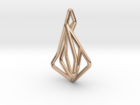 N-Line No.1 Pendant. Natural Chic in 14k Rose Gold Plated Brass