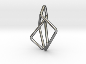 N-Line No.2 Pendant. Natural Chic in Fine Detail Polished Silver