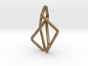 N-Line No.2 Pendant. Natural Chic in Natural Brass