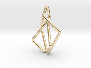 N-Line No.2 Pendant. Natural Chic in 14K Yellow Gold