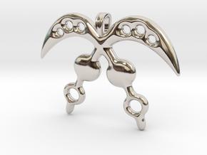 AKOFENA Symbol Jewelry Pendant  in Platinum