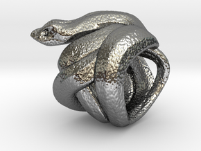 Snake No.2 in Fine Detail Polished Silver
