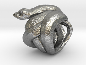 Snake No.2 in Natural Silver