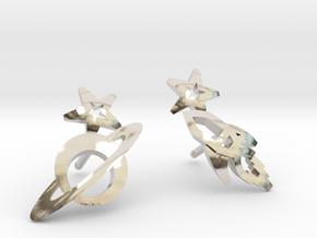 Earrings - Rocket beyond Barriers in Platinum