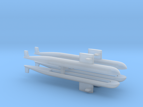 PLA[N] 093 Submarine x 4, 1/3000 in Frosted Ultra Detail