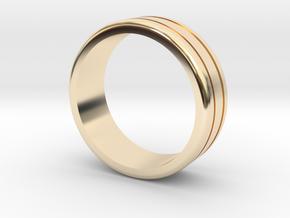 Classic wedding ring in 14K Yellow Gold