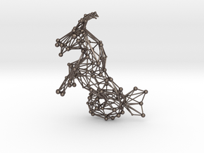 Capricorn Constellation Wireworks - 4cm in Polished Bronzed Silver Steel
