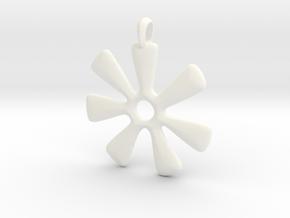 ANANSE NTONTAN Symbol Jewelry Pendant in White Processed Versatile Plastic