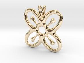 BESE SAKA Symbol Jewelry Pendant in 14K Yellow Gold