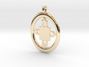 DAME DAME Symbol Jewelry Pendant in 14K Yellow Gold