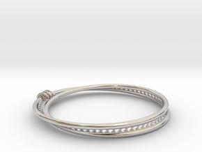 Möbius Snake Bracelet (Small) in Rhodium Plated Brass