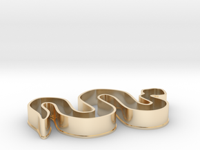 Snake Cookie Cutter in 14k Gold Plated Brass