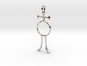 ALCHOOL Alchemy Symbol Jewelry Pendant in Platinum