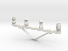 CrossArm Ver05 4 insulators Rev01. Scale 1:24 in White Natural Versatile Plastic