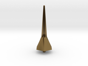 Hexa Tower Spike Scale Part in Polished Bronze