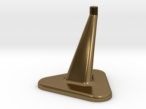 Model Stand / 3mm diameter on top / Hollowed 0,8mm in Polished Bronze