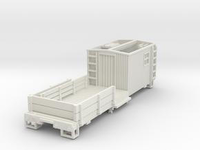 HOn3 MOW Car C in White Natural Versatile Plastic
