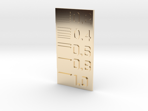 Line Thickness Test Block in 14k Gold Plated Brass
