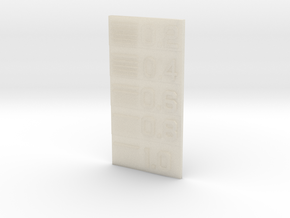 Line Thickness Test Block in White Acrylic