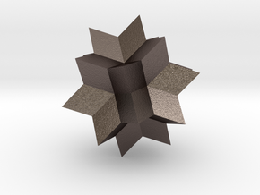 Wolfram|Alpha Spikey in Polished Bronzed Silver Steel: Small