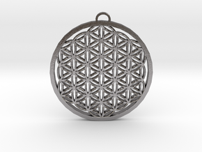 Flower of Life (Large) in Polished Nickel Steel