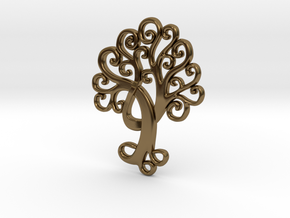 Life Tree Pendant in Polished Bronze