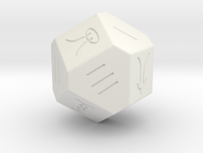 Liubo 14 Sided Dice in White Natural Versatile Plastic