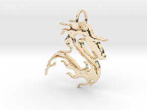 sea horse in 14K Yellow Gold