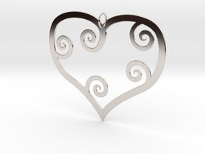 Heart Shaped Pendant in Platinum
