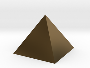 Harmonic Pyramid in Polished Bronze