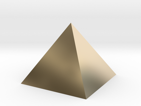Harmonic Pyramid in 14k Gold Plated Brass