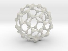 0370 Truncated Icosahedron V&E (a=1cm) #003 in Full Color Sandstone