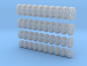 1-18 Flange Set in Smooth Fine Detail Plastic