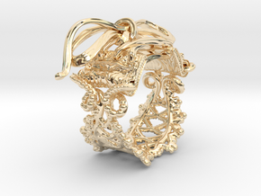 Corset ring  in 14k Gold Plated Brass