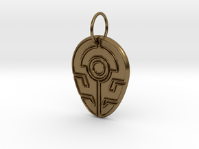 Outsider's Pendant in Polished Bronze