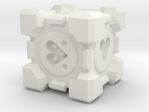 Weighted Companion Cube Dice in White Strong & Flexible