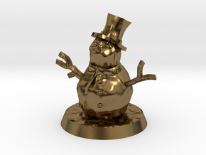 28mm/32mm Snowman in Polished Bronze