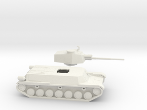 Type 4 Chi-to Japanese WW2 Tank 1/100th 15mm in White Natural Versatile Plastic