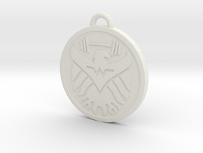 Wonder Workout Train Hard Pendant in White Natural Versatile Plastic